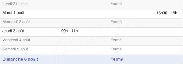 horaires d'ouverture de la Mairie De La Neuville-Aux-Larris
