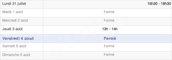 horaires d'ouverture de la Mairie De Pomacle