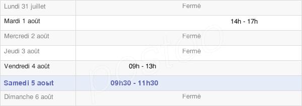 horaires d'ouverture de la Mairie De Bouilly