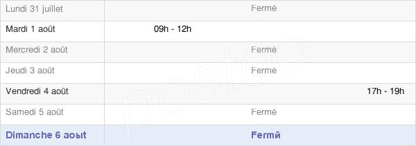 horaires d'ouverture de la Mairie De Val-Des-Marais