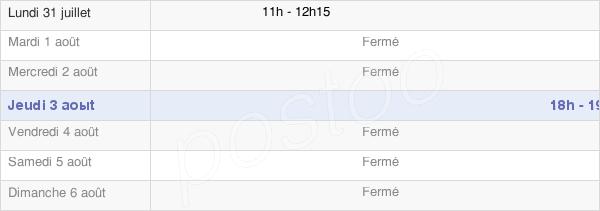 horaires d'ouverture de la Mairie De Châtillon-Sur-Morin