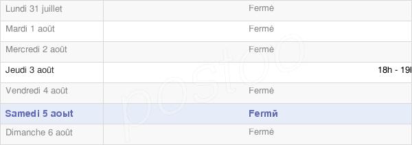 horaires d'ouverture de la Mairie De Rieux