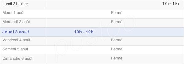 horaires d'ouverture de la Mairie De Faux-Fresnay