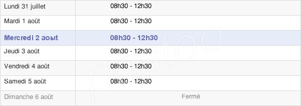 horaires d'ouverture de la Mairie De Cramant