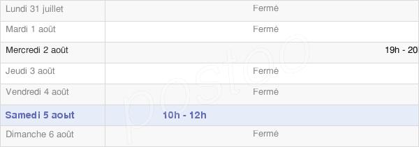 horaires d'ouverture de la Mairie De Brimont
