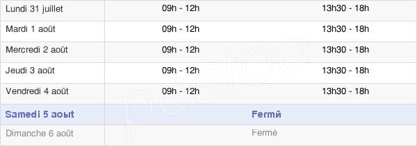 horaires d'ouverture de la Mairie De Warmeriville