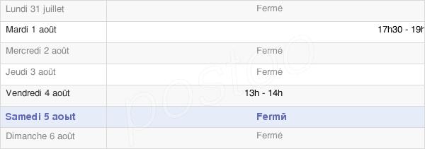 horaires d'ouverture de la Mairie De Berru
