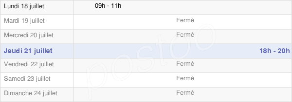 horaires d'ouverture de la Mairie De Reuil