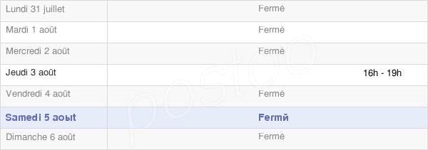 horaires d'ouverture de la Mairie De Clamanges