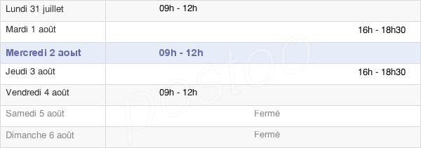 horaires d'ouverture de la Mairie De Muizon