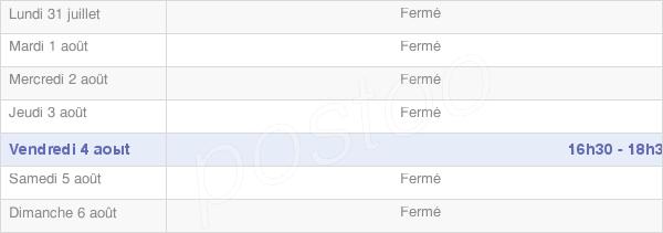 horaires d'ouverture de la Mairie De Somme-Yèvre