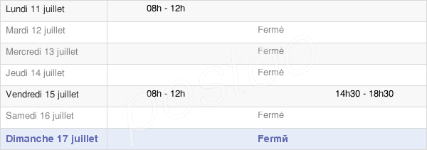 horaires d'ouverture de la Mairie De Châlons-Sur-Vesle