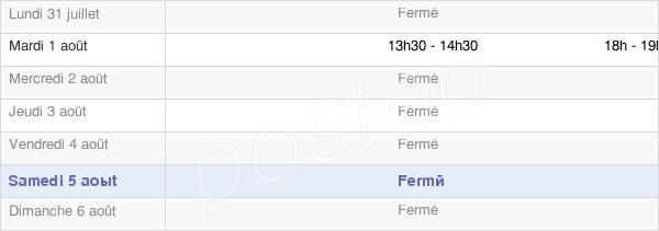 horaires d'ouverture de la Mairie De Corroy