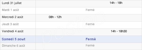 horaires d'ouverture de la Mairie De Saint-Eulien