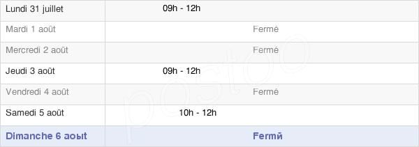 horaires d'ouverture de la Mairie Des Ternes