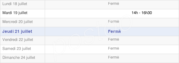 horaires d'ouverture de la Mairie De Tréfols