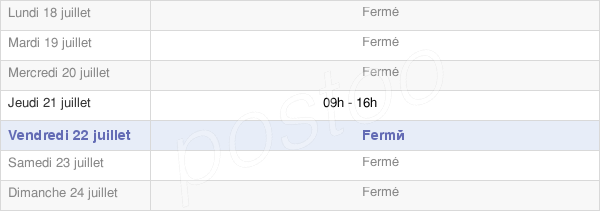 horaires d'ouverture de la Mairie De Celoux
