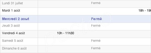 horaires d'ouverture de la Mairie D'Étrepy