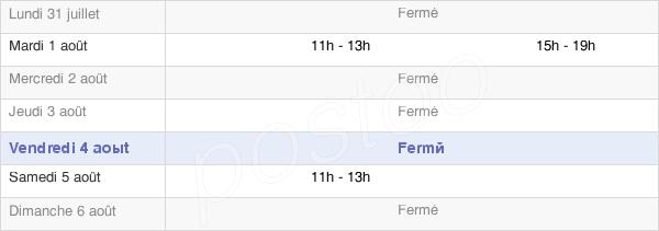 horaires d'ouverture de la Mairie De Saint-Hippolyte