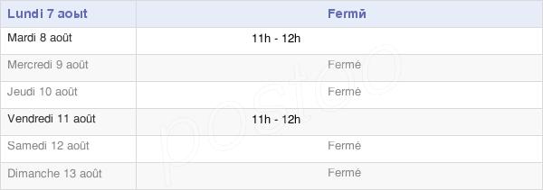 horaires d'ouverture de la Mairie D'Écriennes