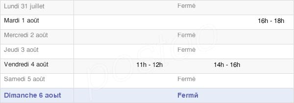horaires d'ouverture de la Mairie De Champfleury