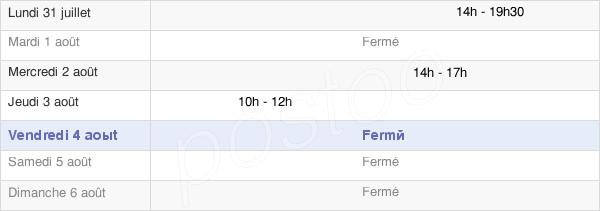 horaires d'ouverture de la Mairie D'Ormes