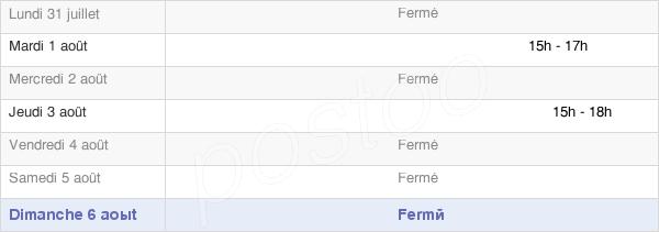 horaires d'ouverture de la Mairie De Jouy-Lès-Reims