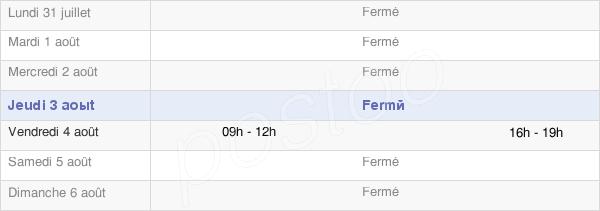 horaires d'ouverture de la Mairie De Dontrien