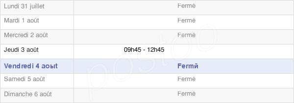 horaires d'ouverture de la Mairie De La Forestière