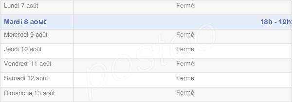 horaires d'ouverture de la Mairie De Cheniers