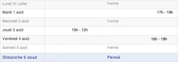 horaires d'ouverture de la Mairie D'Auménancourt
