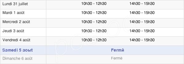 horaires d'ouverture de la Mairie De Bétheniville