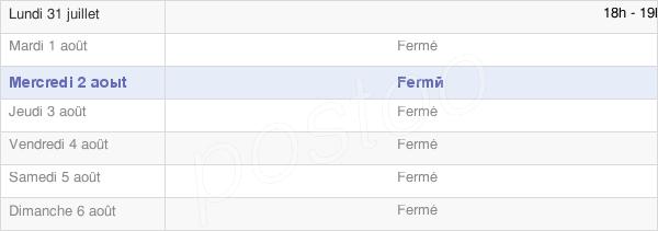 horaires d'ouverture de la Mairie De Dommartin Dampierre