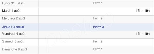 horaires d'ouverture de la Mairie De Cauroy-Lès-Hermonville