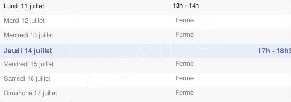horaires d'ouverture de la Mairie De Fromentières