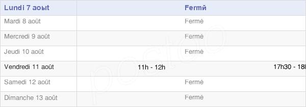 horaires d'ouverture de la Mairie De Cernon