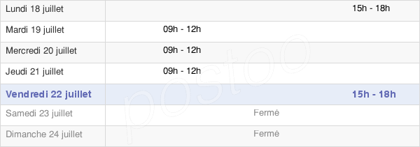horaires d'ouverture de la Mairie De Moussy