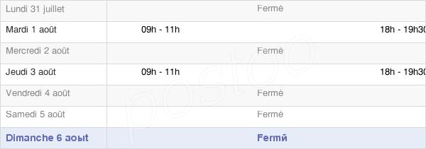 horaires d'ouverture de la Mairie De Mairy-Sur-Marne