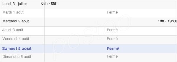 horaires d'ouverture de la Mairie De Montigny-Sur-Vesle