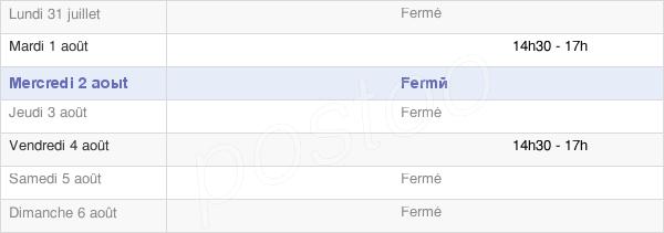 horaires d'ouverture de la Mairie De Sainte-Marie-Du-Lac-Nuisement