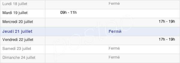 horaires d'ouverture de la Mairie De Saint-Imoges