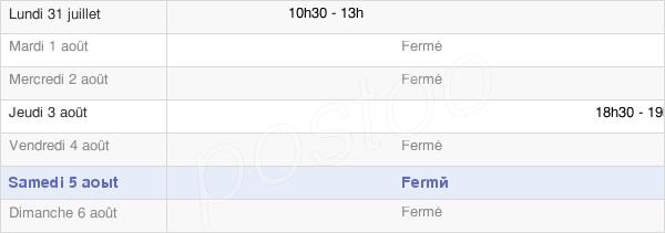 horaires d'ouverture de la Mairie De Branscourt