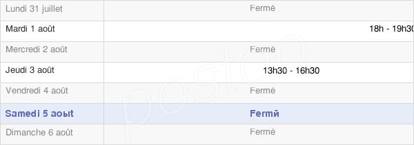 horaires d'ouverture de la Mairie De Gionges
