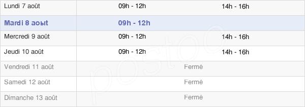 horaires d'ouverture de la Mairie De Tours-Sur-Marne