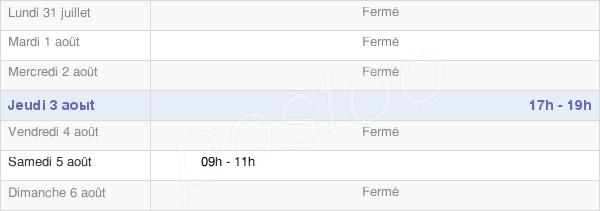 horaires d'ouverture de la Mairie De Breuil