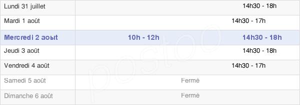 horaires d'ouverture de la Mairie D'Anglure