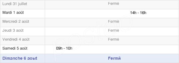 horaires d'ouverture de la Mairie De Binson-Et-Orquigny