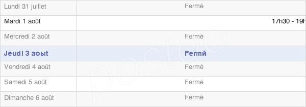 horaires d'ouverture de la Mairie De Togny-Aux-Boeufs