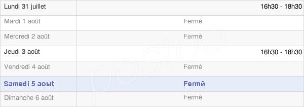 horaires d'ouverture de la Mairie De Venteuil
