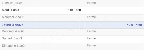 horaires d'ouverture de la Mairie De Villers-Aux-Noeuds